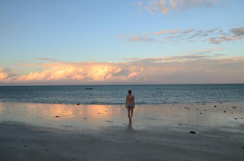 nZuwa Lodge, pemba, Mozambique, strand, solnedgang, sunset