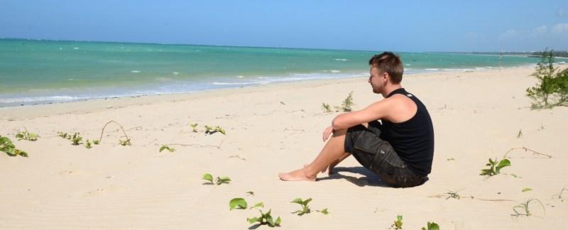 Strand, nzuwa, mozambique, workaway, stort, til forsiden slider