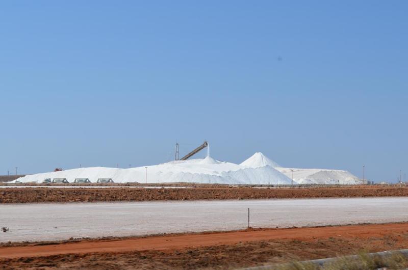 Salt mine i Port Hedland