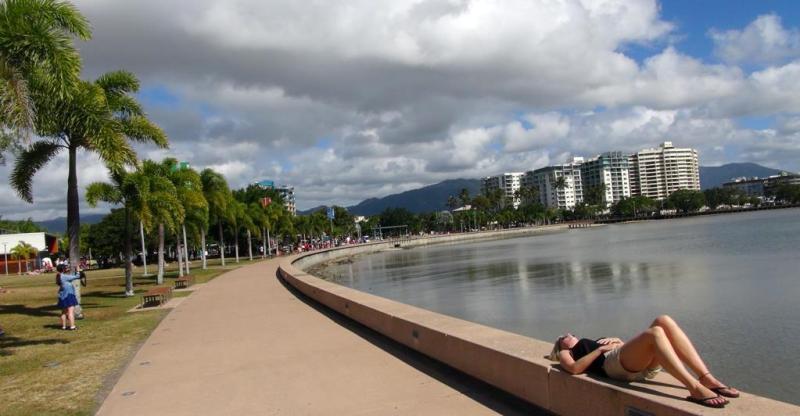 Esplanaden i Cairns