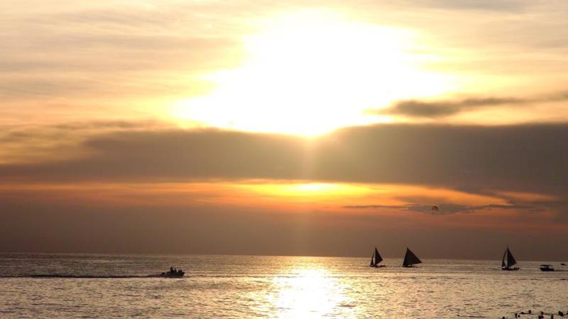 Solnedgang over Boracay