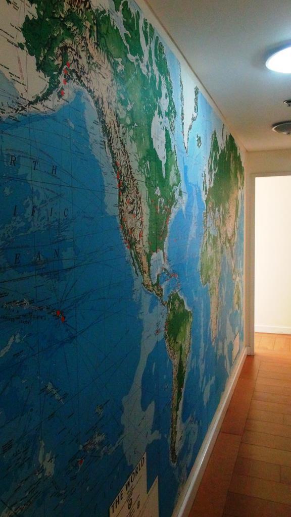Væg verdenskort, wall world map