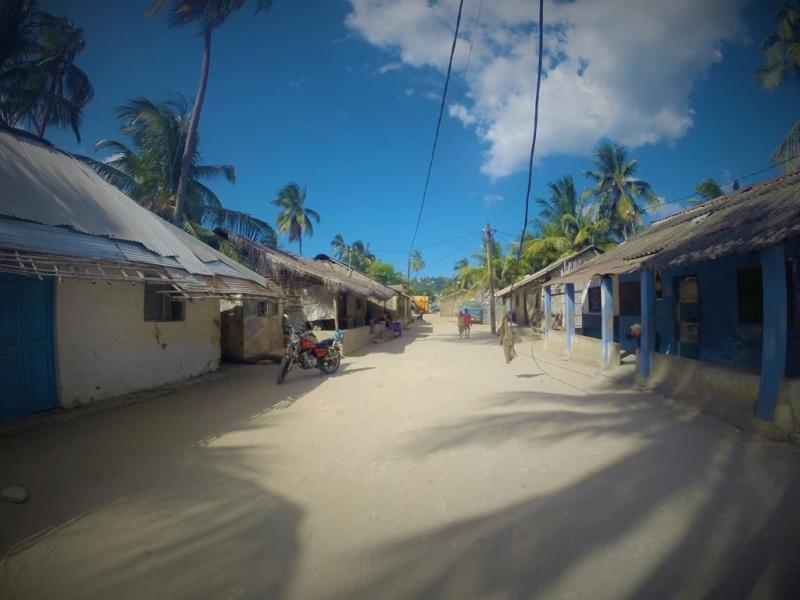 pemba village palmer blå himmel