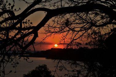 Australien, strand, beach, solnedgang, sunset