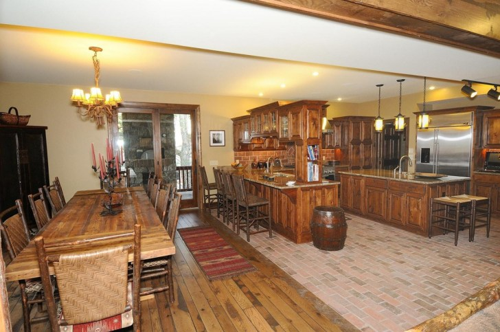 kitchens hardwood floor in kitchen Picture