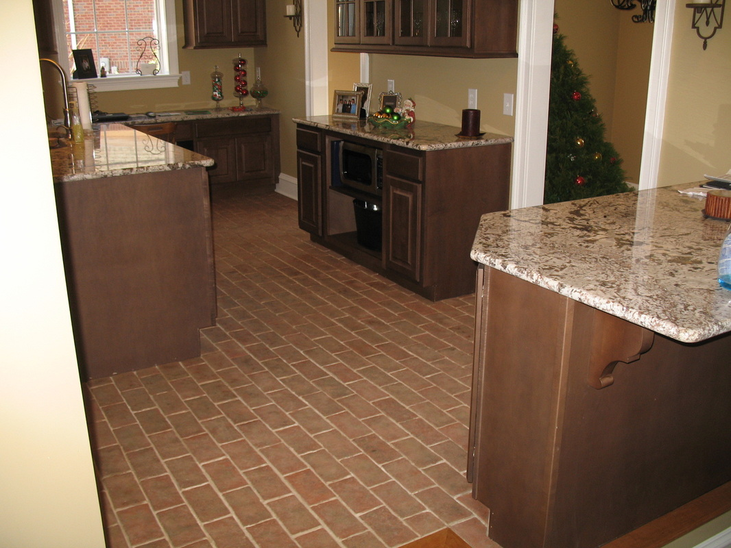 kitchens kitchen floor tiles Boltinhouse Kitchen Wright s Ferry brick tile