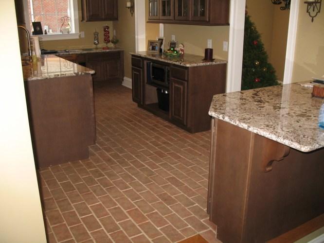 kitchens flooring for kitchen Boltinhouse Kitchen Wright s Ferry brick tile