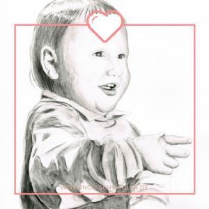 Portrait zeichnen malen lassen vom Foto mit Bleistift Gouache_04