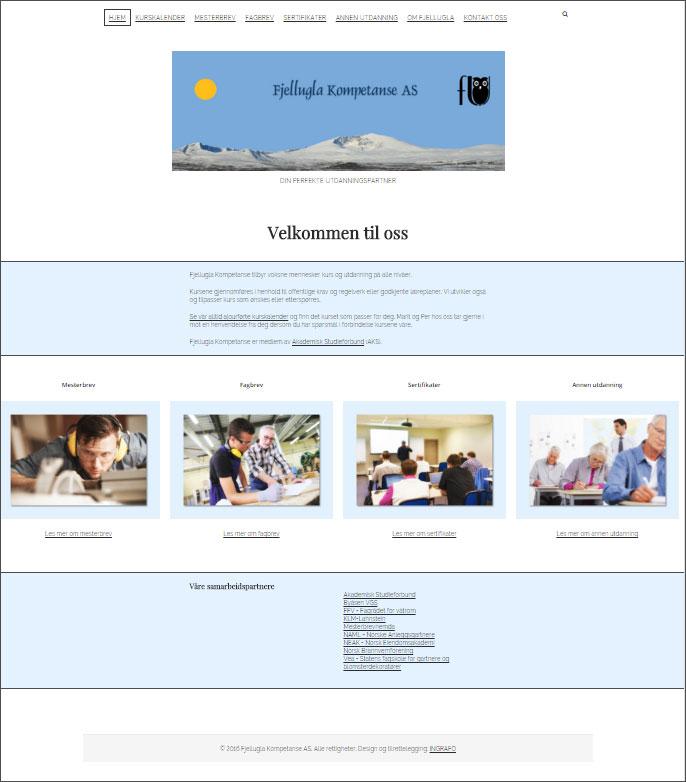Fjellugla Kompetanse AS på Tynset har satt i drift sitt nye nettsted basert på WordPress. Nettstedet er utviklet av Ingrafo. Webhotelløsningen med WordPress og eposttjenester er også levert av Ingrafo.