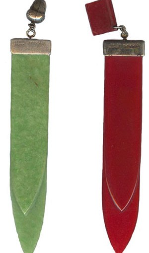 vintage bookmarks with bakelite