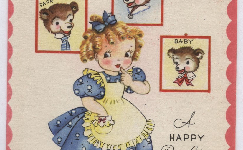 Vintage Birthday Greetings From Goldilocks & The Three Bears