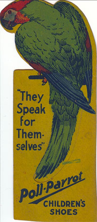Vintage Poll Parrot Children's Shoes Bookmark