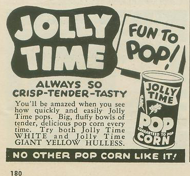 Vintage Jolly Time Pop Corn Ad