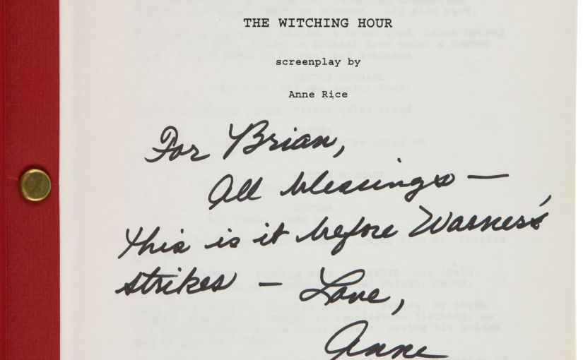 The Witching Hour Draws Nigh For Rare Anne Rice Work