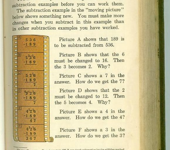 filmstrip math vintage school book
