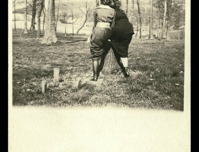 Antique Real Photo Postcard Featuring Female Backsides
