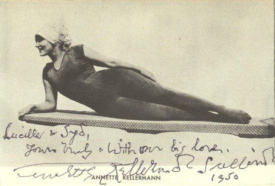 Annette Kellerman on board signed