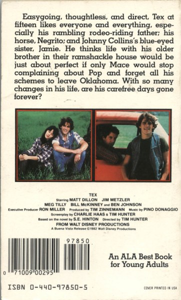 tex back cover