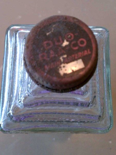 vintage embalming fluid bottle cap