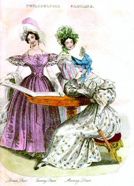 Godey's Philadelphia Fashions July-1833