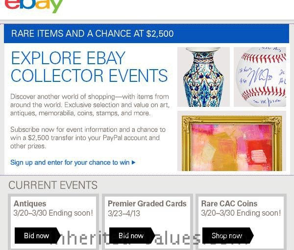"EBay Says ""Win Big With Collectibles"""