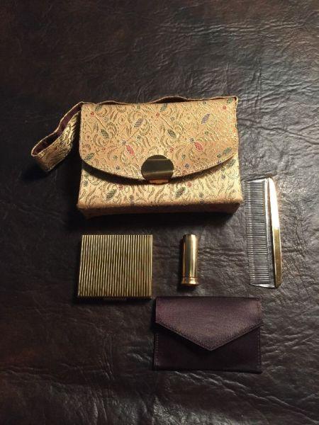 vintage Britemode cosmetic set lipstick case
