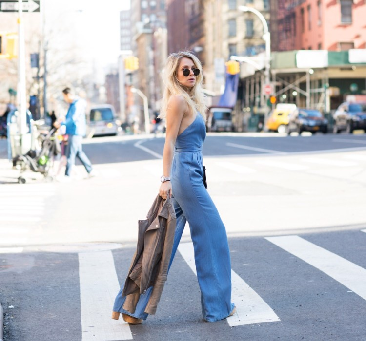 Nikole Powers| Lovers and Friends Chambray Jumper| Miami Fashion Blogger