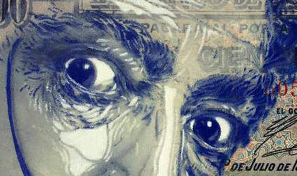 'Dali' print by C215 (detail)