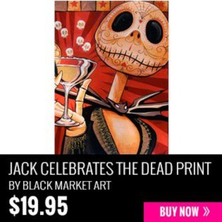 Jack Celebrates the Dead print by Black Market Art