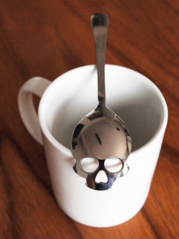 "Available at INKEDSHOP.COM: ""Sugar Skull"" Stainless Steel Tea Spoon"