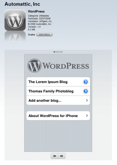 Wordpress para el iPhone
