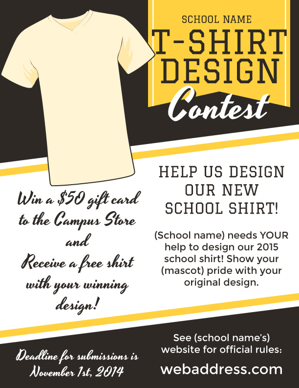 t shirt design contest maketing flyers inksoft inksoft