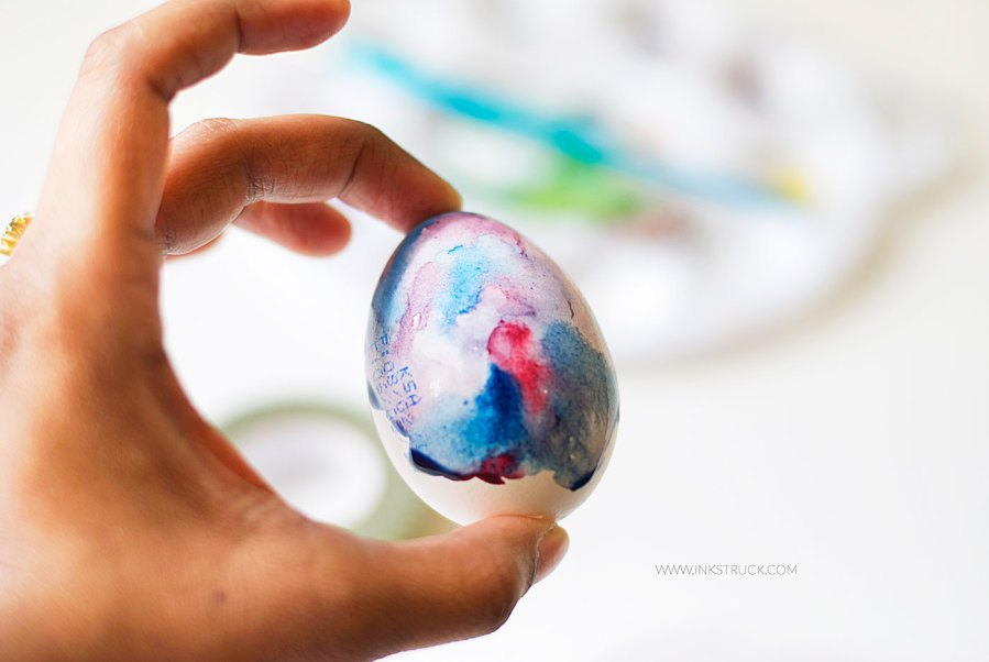 DIY easter egg art-galaxy painting by inkstruck studio