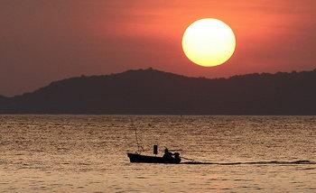 sunset on the island of Koh Samet