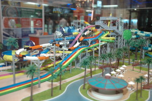 Polin brought models featuring the variety of slides and attractions they offer.