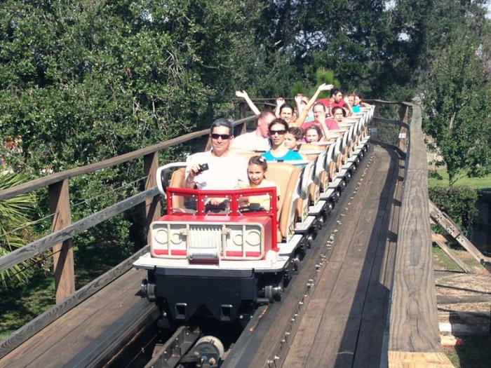 GCI Mini-llennium train, Coastersaurus, LEGOLAND Florida