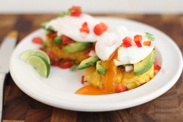 Mexican Corn Cakes with Poached Eggs