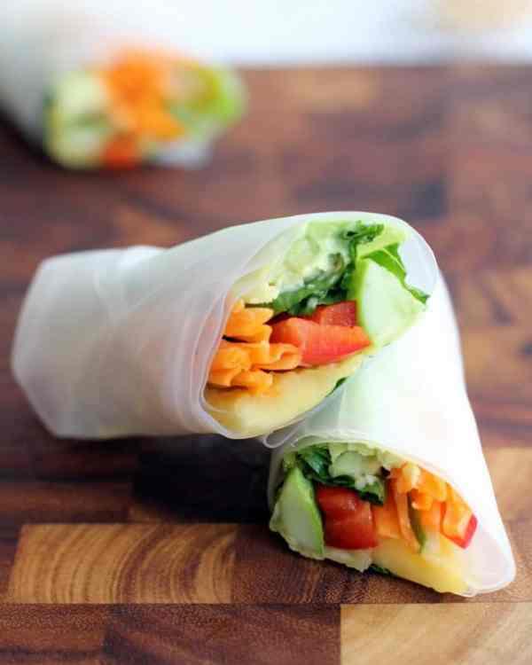 Vietnamese Summer Rolls Avocado Mango