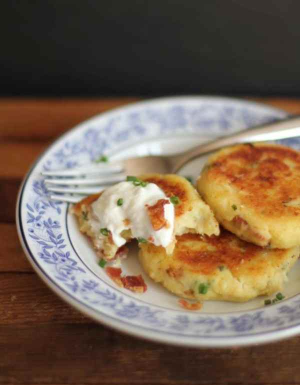 loaded potato pancakes