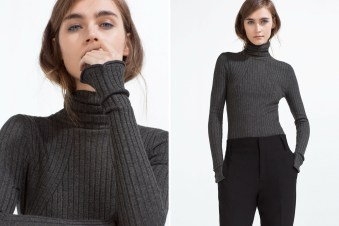 ZARA Sweater With a Roll-Neck, available at ZARA.com