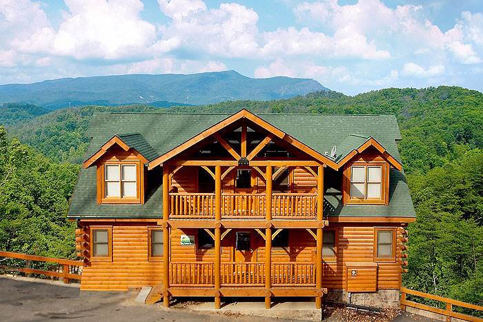 Photo of Big Timber Lodge, one of the best Gatlinburg TN cabins.