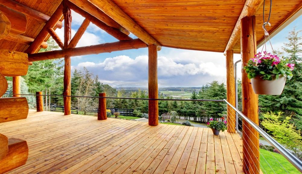 breathtaking view from cabin in Gatlinburg