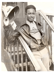 John Robinson in Ethiopian uniform, 1935. During World War Two he would serve as an instructor for the famed Tuskegee airmen.
