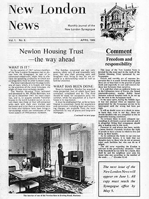 Front cover of New London News, April 1969