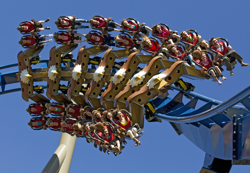 Thrilling Dollywood in Pigeon Forge coaster