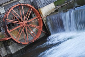 Closeup of the water wheel at the Pigeon Forge Mill.