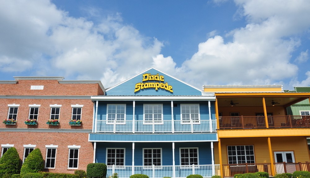 Photo of the exterior of the Pigeon Forge Dixie Stampede.