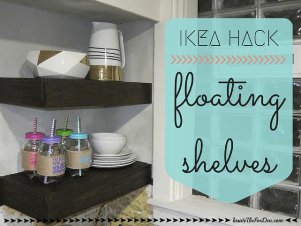 IKEA Hack - Floating Shelves | Inside the Fox Den