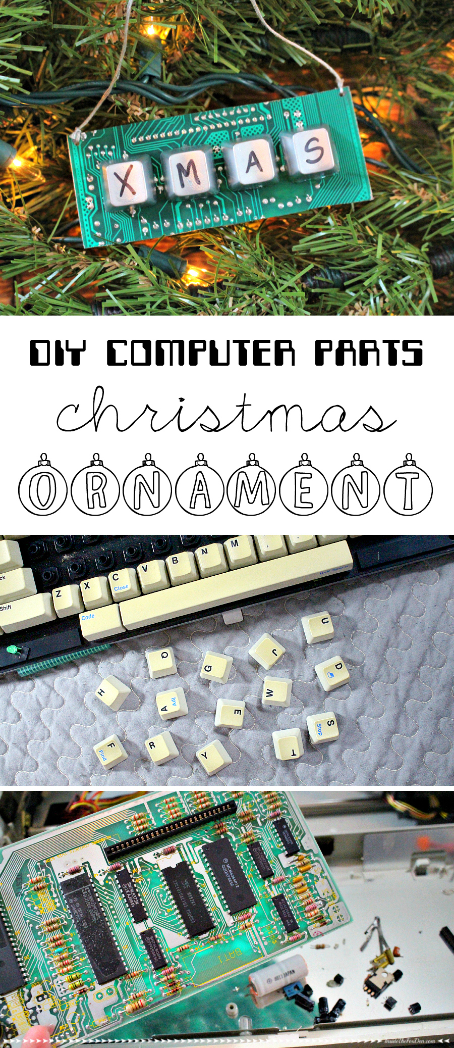 DIY Computer Parts Ornament | Inside the Fox Den