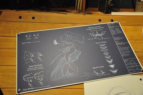 The Little Mermaid: Ariel's Adventure animatronic drawing